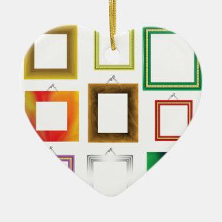 Ornement Cœur En Céramique cadres réglés