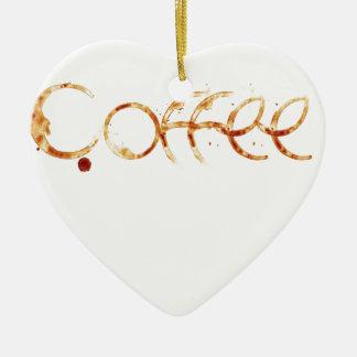 Ornement Cœur En Céramique café design