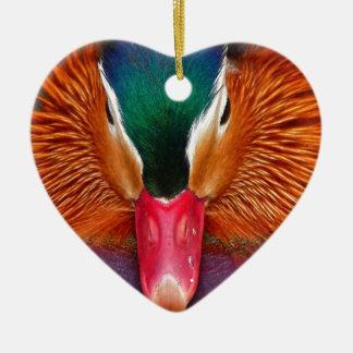 Ornement Cœur En Céramique canard #2