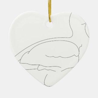 Ornement Cœur En Céramique canard #3