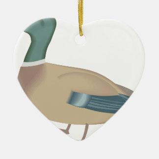 Ornement Cœur En Céramique canard #4