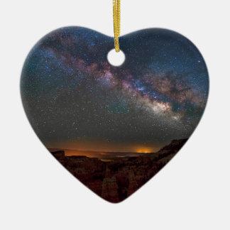 Ornement Cœur En Céramique Canyon de Bryce de royaume des fées
