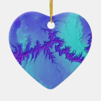 Ornement Cœur En Céramique Canyon grand de style lumineux de nébuleuse de