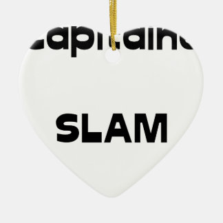 Ornement Cœur En Céramique Capitaine SLAM - Jeux de Mots - Francois Ville