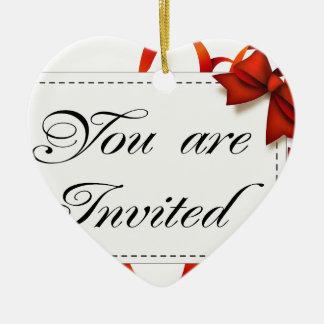 Ornement Cœur En Céramique Carte d'invitation >> vous êtes invités