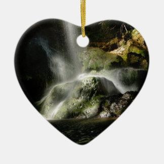 Ornement Cœur En Céramique Cascade