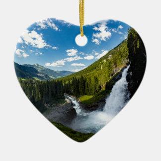 Ornement Cœur En Céramique cascade de krimml, Autriche