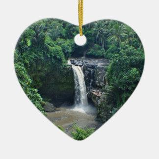 Ornement Cœur En Céramique Cascades de Bali