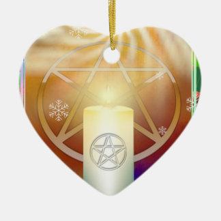 Ornement Cœur En Céramique Célébrez la chaleur du Noël Sun