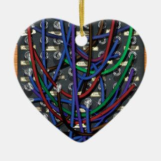 Ornement Cœur En Céramique Central téléphonique