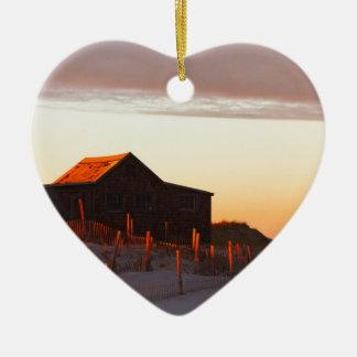 Ornement Cœur En Céramique Chambre au coucher du soleil - 1