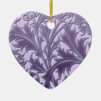 Ornement Cœur En Céramique Chardon rose de sucrerie