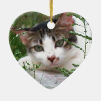 Ornement Cœur En Céramique Chat de Kitty