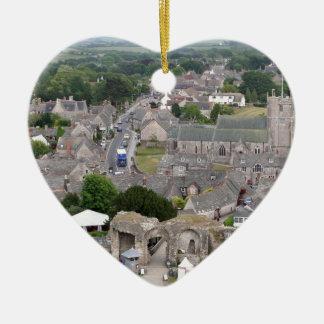 Ornement Cœur En Céramique Château de Corfe, Dorset, Angleterre