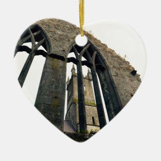 Ornement Cœur En Céramique Château irlandais - forteresse - près des portes