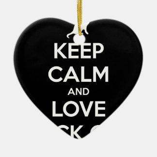 Ornement Cœur En Céramique Chats noirs d'amour