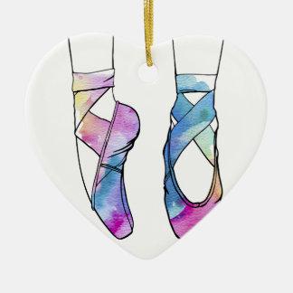 Ornement Cœur En Céramique Chaussures de ballet mignonnes de danse