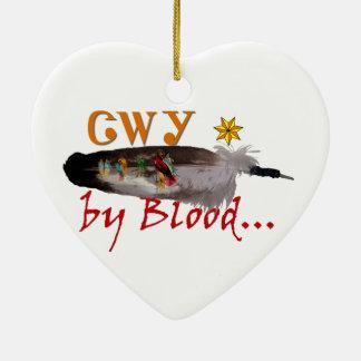 Ornement Cœur En Céramique Cherokee par sang
