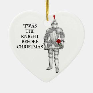 Ornement Cœur En Céramique Chevalier avant Noël