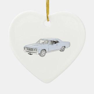 Ornement Cœur En Céramique Chevy 1967 Chevelle