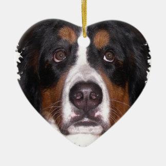 """Ornement Cœur En Céramique : Chien de grand chien"""" de chien"""" de montagne """"de"""