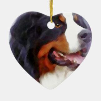 Ornement Cœur En Céramique chien de montagne bernese