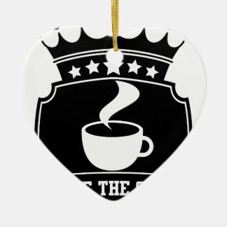 Ornement Cœur En Céramique choisissez le café