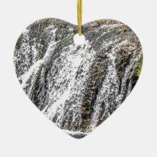 Ornement Cœur En Céramique chutes fraîches dans la forêt