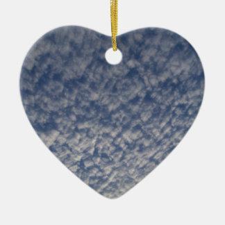 Ornement Cœur En Céramique ciel de maquereau