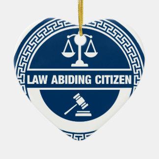 Ornement Cœur En Céramique Citoyen respectueux des lois