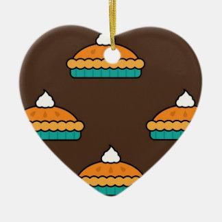 Ornement Cœur En Céramique Citrouille de dessert de tarte de tarte de