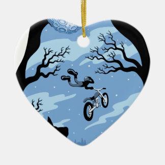 Ornement Cœur En Céramique Clair de lune Hangin
