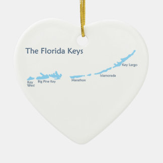 Ornement Cœur En Céramique Clés de la Floride