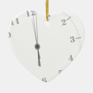 Ornement Cœur En Céramique Clockface de minuit