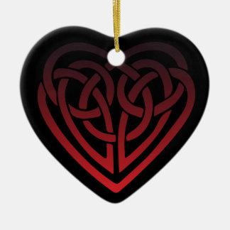 Ornement Cœur En Céramique Coeur celtique