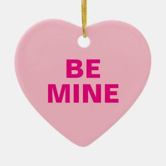 Ornement Cœur En Céramique Coeur de conversation de Saint-Valentin