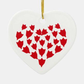 Ornement Cœur En Céramique Coeur de pied de canard