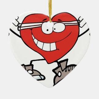 Ornement Cœur En Céramique coeur d'exercice