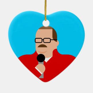 Ornement Cœur En Céramique Coeur d'ornement de Noël d'os de Ken