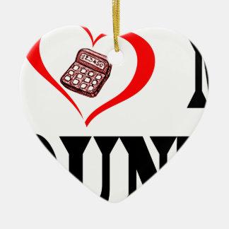 Ornement Cœur En Céramique Coeur I mon COMPTABLE
