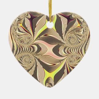 Ornement Cœur En Céramique coeur multicolore