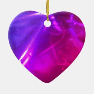 Ornement Cœur En Céramique Coeur pourpre et rose