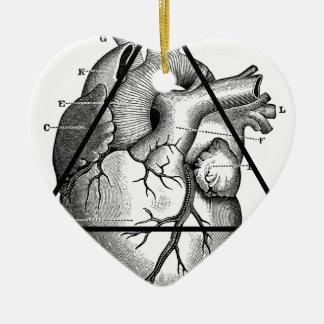 Ornement Cœur En Céramique Coeur triangle heart