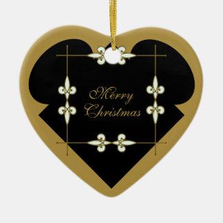 Ornement Cœur En Céramique Coeur vintage victorien de fête de Nouveau d'art