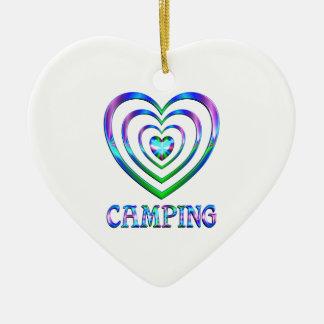 Ornement Cœur En Céramique Coeurs de camping