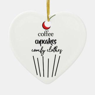Ornement Cœur En Céramique coffeecupcakescomfyclothes