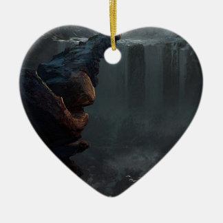 Ornement Cœur En Céramique Commençant la vie en un autre monde