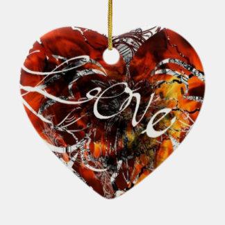 Ornement Cœur En Céramique Conception d'amour de Nathan Robert Simonson