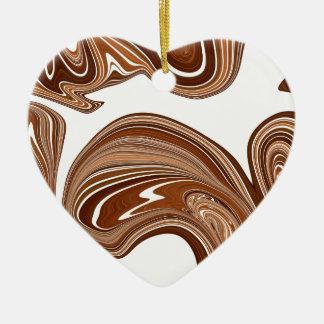 Ornement Cœur En Céramique Conception de cuivre audacieuse d'effet de pierre