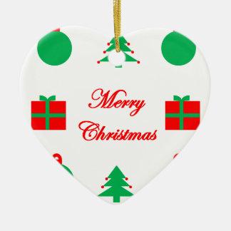 Ornement Cœur En Céramique Conception de Joyeux Noël